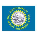 Postcard with Flag of South Dakota State - USA