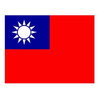 Postcard with Flag of Taiwan