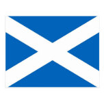 Postcard with Flag of the Scotland