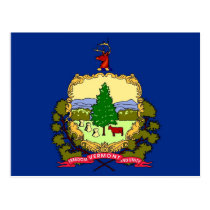 Postcard with Flag of Vermont State - USA