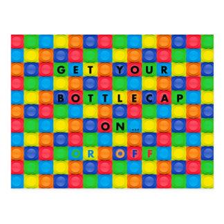 Postcard with Fun BottleCap Design