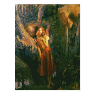 Postcard With Gaston Bussiere Painting