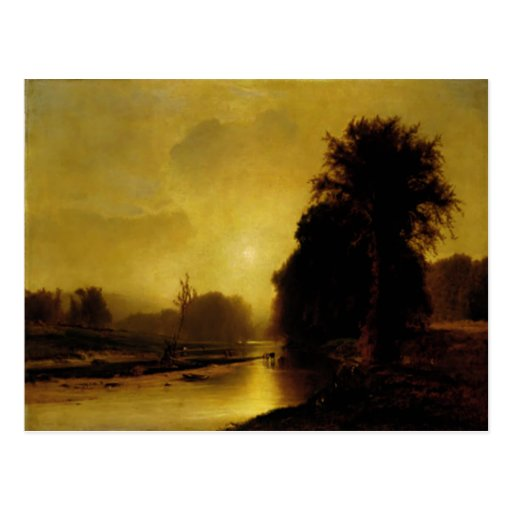 Postcard With George Inness Painting