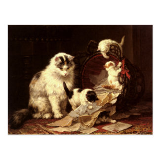 Postcard With Henriette Ronner-Knip Painting