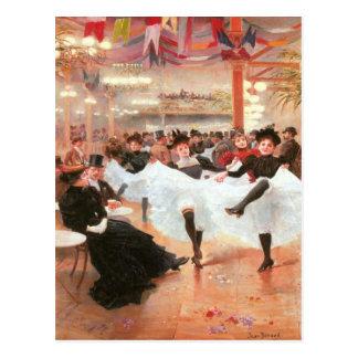 Postcard With Jean Beraud Painting
