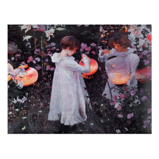 Postcard With John Singer Sargent Painting