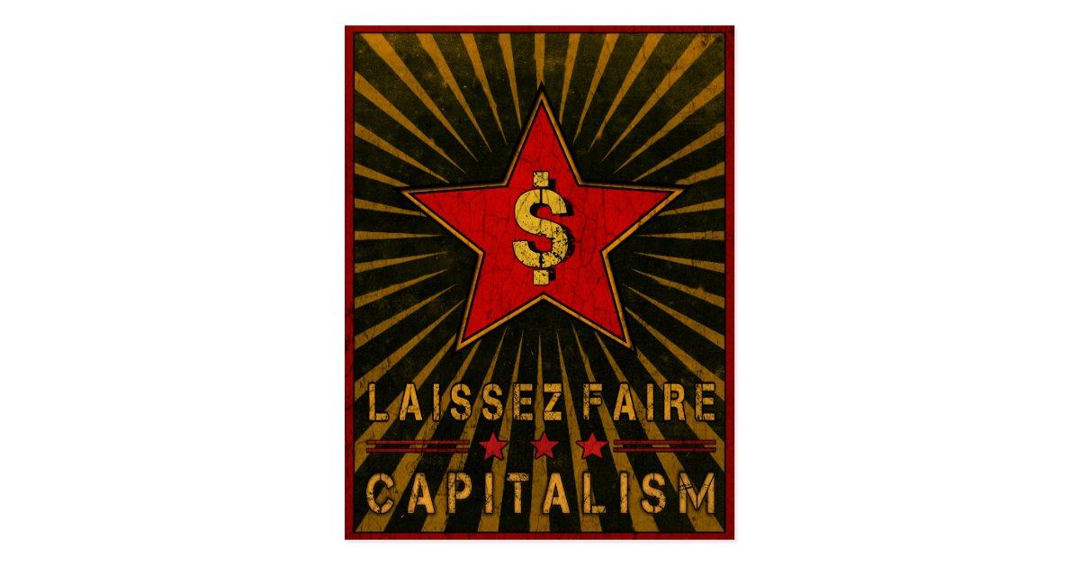 Postcard With Laissez Faire Capitalism Greetings Zazzle