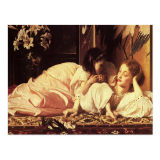Postcard With Lord Frederick Leighton Painting