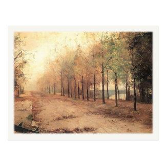 Postcard With Marie Bashkirtseff Painting
