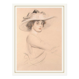 Postcard With Paul Cesar Helleu Painting