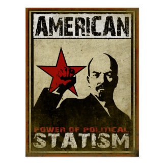 Postcard with Political Warning Message of Statism