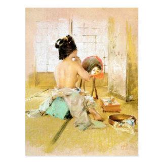 Postcard With Robert Frederick Blum Painting