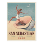 Postcard with San Sebastian Advertising Print