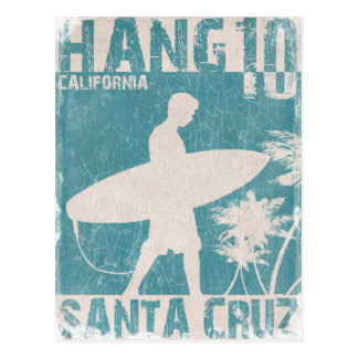 Postcard with Santa Cruz Surfer Print
