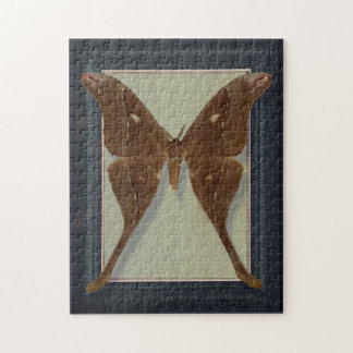 Postcard with Saturnidae moth Jigsaw Puzzle