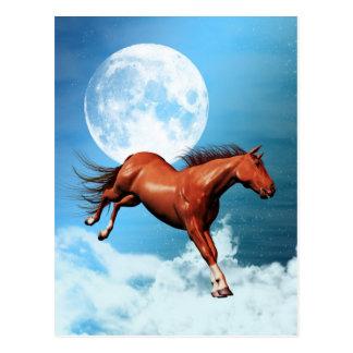 Postcard with spirit horse