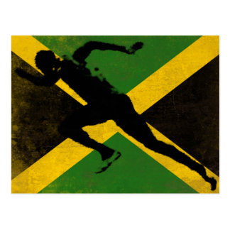 Postcard with Sprinter on Jamaica Flag