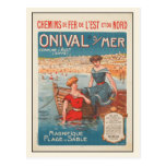 Postcard with Summer Poster Print from France