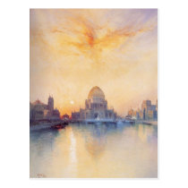 Postcard With Thomas Moran Painting