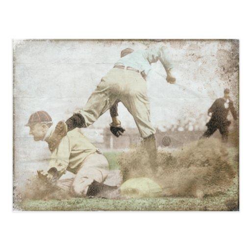 Postcard with Vintage Baseball Print