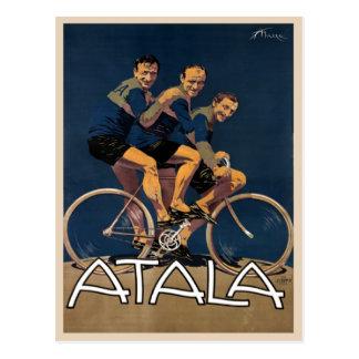 Postcard With Vintage Bicycle Poster Print