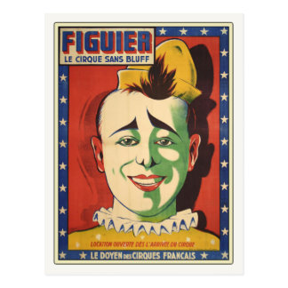 Postcard with Vintage Circus Clown