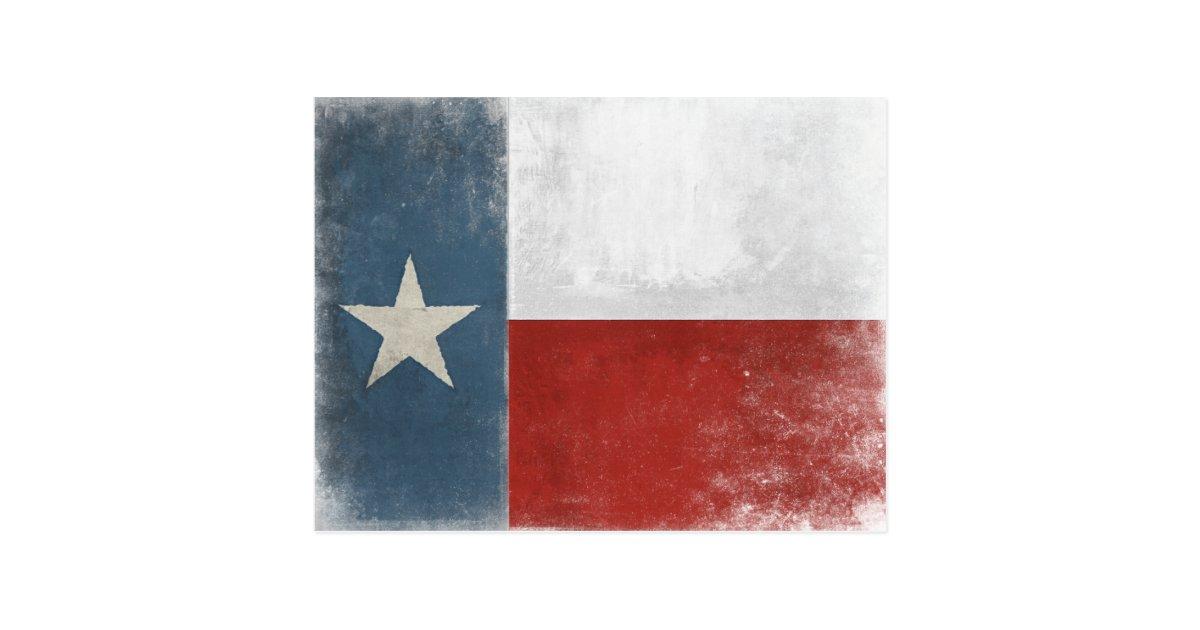 Postcard With Vintage Distressed Texas Flag Zazzle