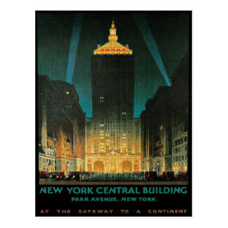 Postcard with Vintage New York Central Print