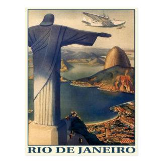 Postcard with Vintage Rio de Janeiro Print