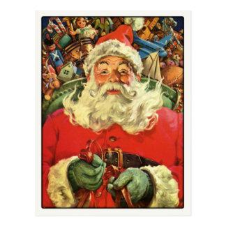 Postcard with Vintage Santa Claus Greetings
