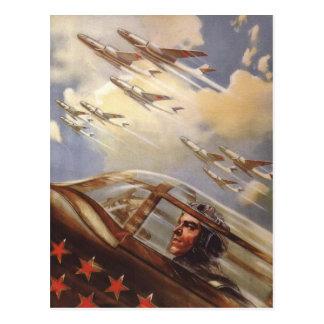 Postcard with Vintage USSR Air Force Propaganda
