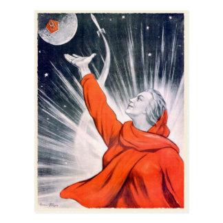 Postcard with Vintage USSR Propaganda Print