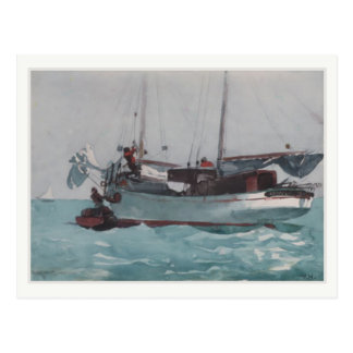 Postcard With Winslow Homer Painting