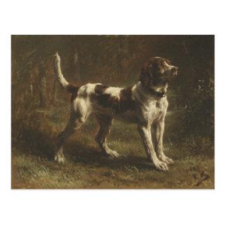 Postcard With Wonderful Dog Painting