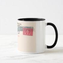 postcard without postage mug