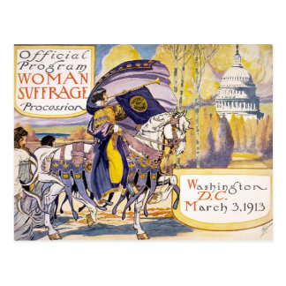 Postcard Woman suffrage procession Washington D.C.