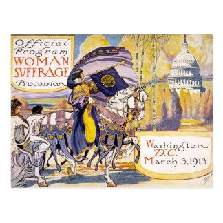 Postcard Woman suffrage procession Washington D.C.