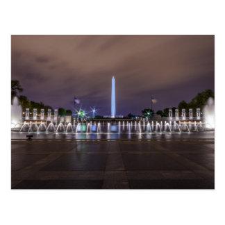 Postcard World War II Memorial - Washington D.C.