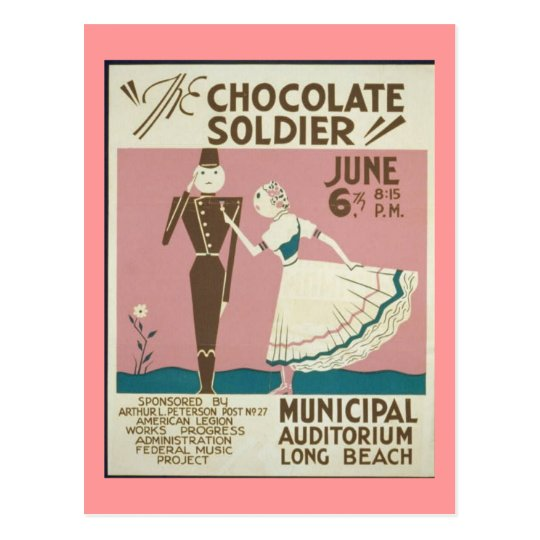 Postcard-WPA-Chocolate Soldier Postcard