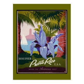 Postcard-WPA-Discover Puerto Rico 2 Postcard