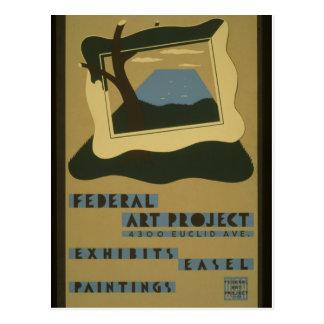 Postcard-WPA-Federal Art Project Postcard