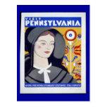 Postcard-WPA-Visit Pennsylvania