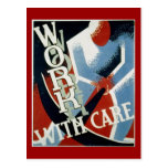 Postcard-WPA-Work with Care