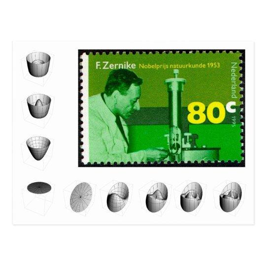 Postcard: Zernike commerative stamp Postcard