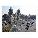 Postcard Zocalo Cathedral, Mexico City City