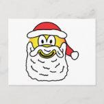 Santa emoticon   postcards