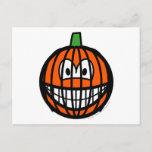 Jack-o-lantern smile   postcards