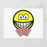 Card playing smile   postcards
