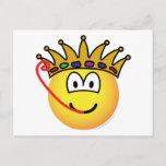 Frog king emoticon   postcards
