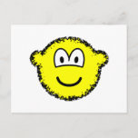 Fuzzy buddy icon or buddy icon after accidentally falling into the washing-machine  postcards